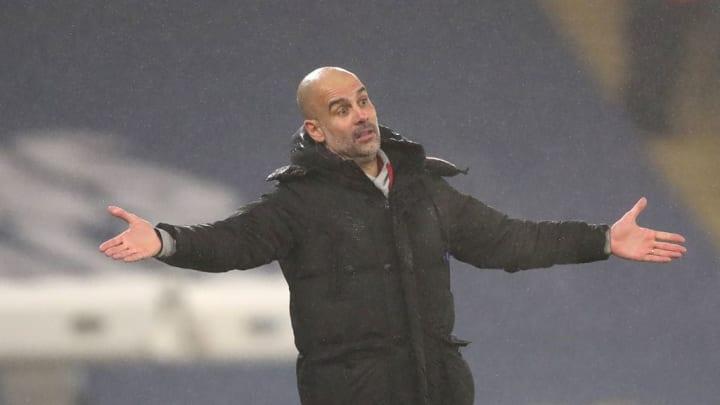 Pep Guardiola has had striker troubles this season