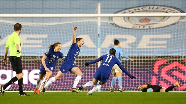 Niamh Charles and Guro Reiten came off the bench to great affect against Manchester City
