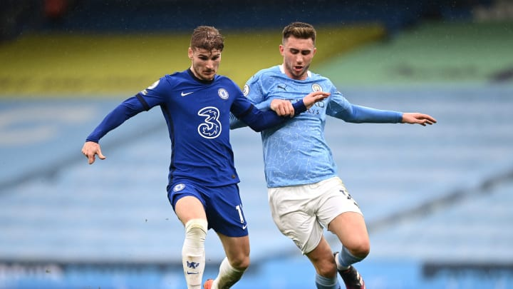 Aymeric Laporte im Duell mit Timo Werner