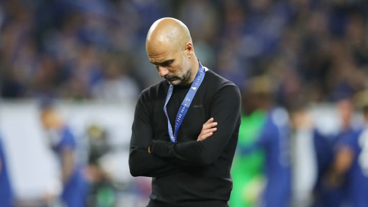 Guardiola was dejected after the 2021 final