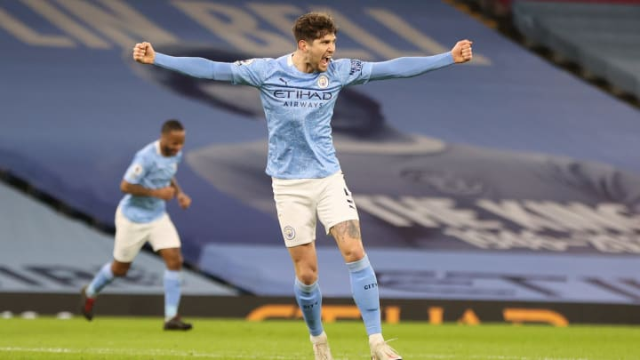 Stones bagged two against Palace on Sunday night