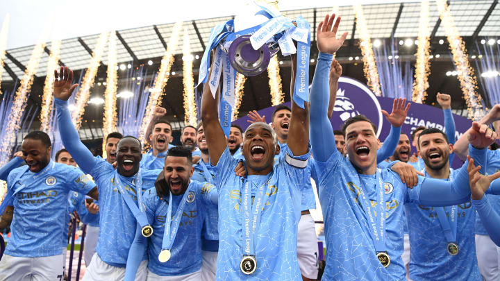 Manchester City captain Fernandinho lifted the Premier League trophy in May