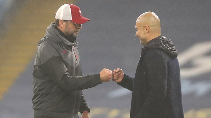 Pep and Klopp bump fists after City and Liverpool happily shared the spoils in their 1-1 stalemate