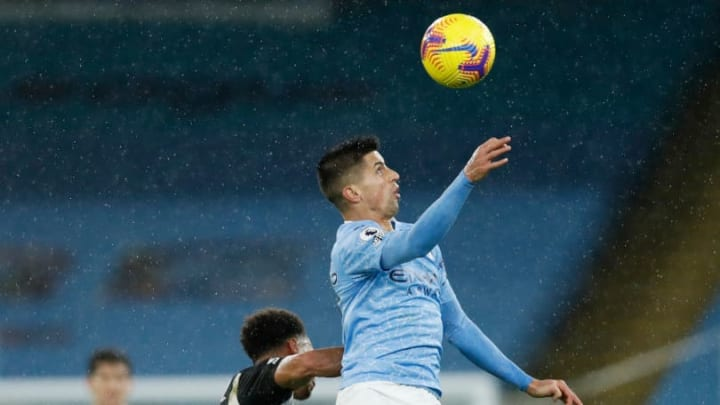 Cancelo leaping highest
