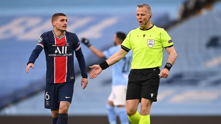 Marco Verratti s'est plaint de l'arbitrage de Bjorn Kuipers face à Manchester City.
