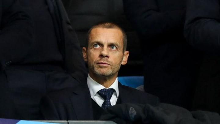 Aleksander Čeferin im Etihad Stadium: Manchester City gegen Schachtar Donezk