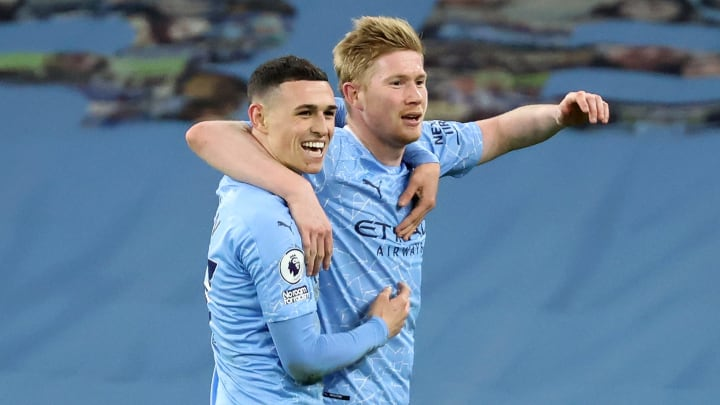 Kevin De Bruyne and Phil Foden are both up for the award