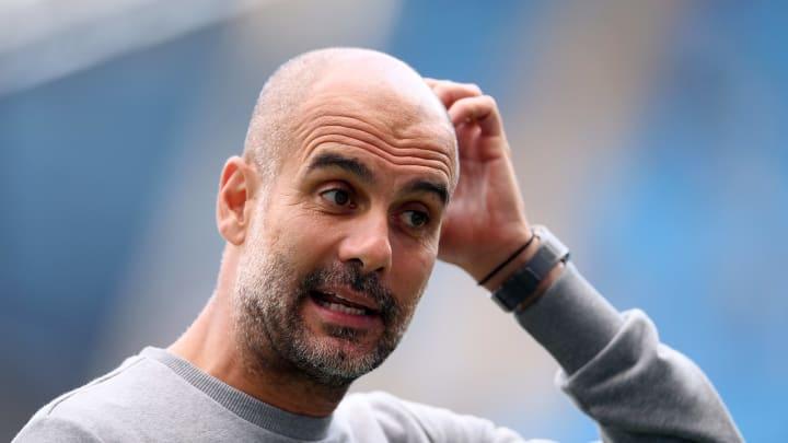 Pep Guardiola sur le banc de Manchester City cette saison