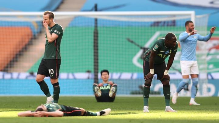A scene of despair for Tottenham and jubilation for Man City