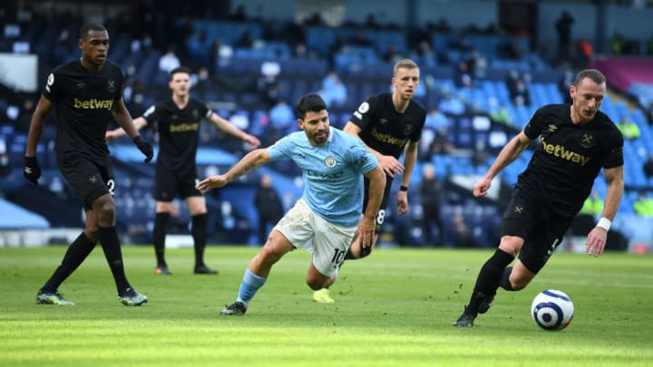 Sergio Aguero made just his second league appearance of the calendar year