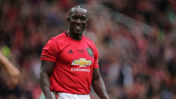 Yorke playing in a Man Utd Legends game