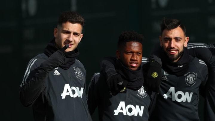 Diogo Dalot, Fred, Bruno Fernandes, Tim Fosu-Mensah