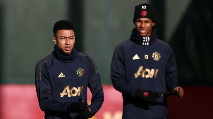 Jesse Lingard and Paul Pogba - Manchester United