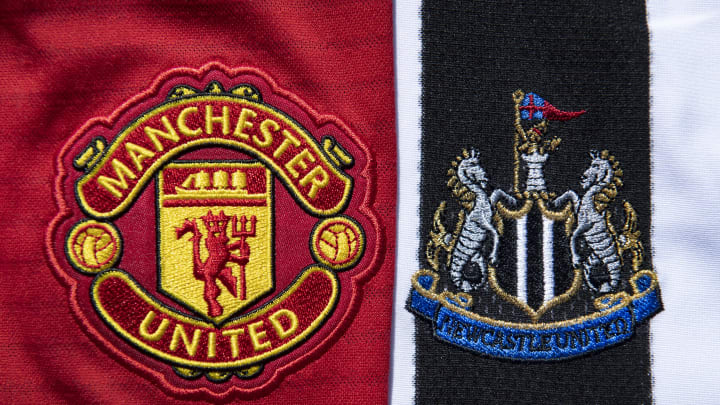 Manchester United and Newcastle United Club Crests