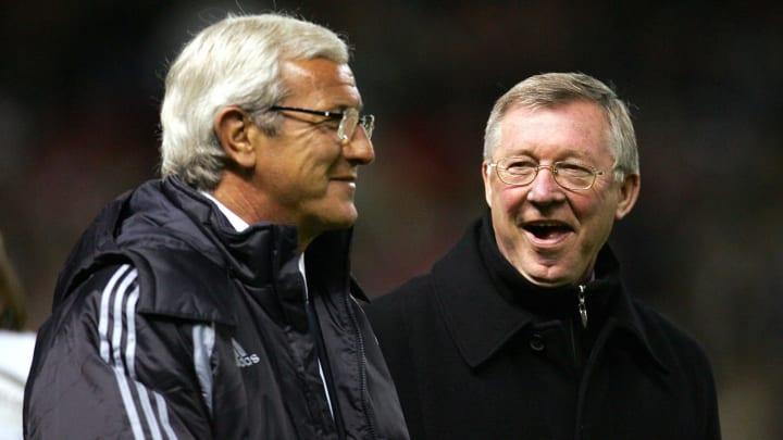 Manchester United manager Alex Ferguson...
