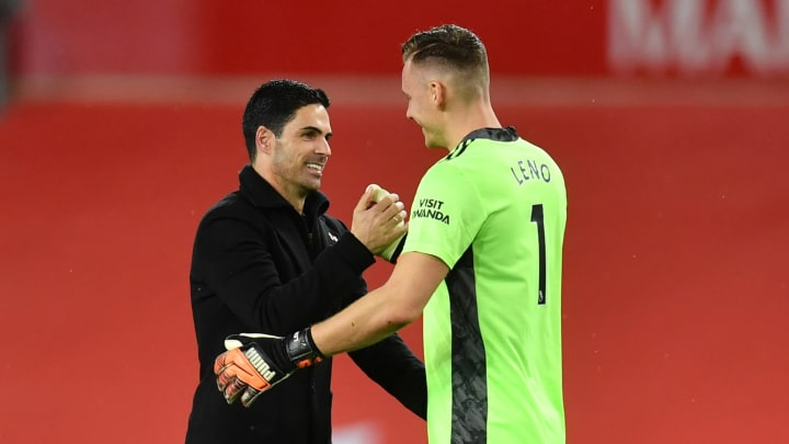 Bernd Leno has lost his place in Mikel Arteta's starting lineup