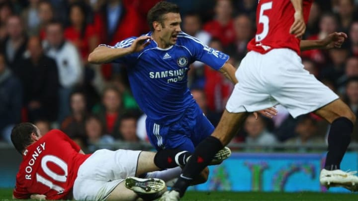 Shevchenko and Rooney battled in the Premier League multiple times