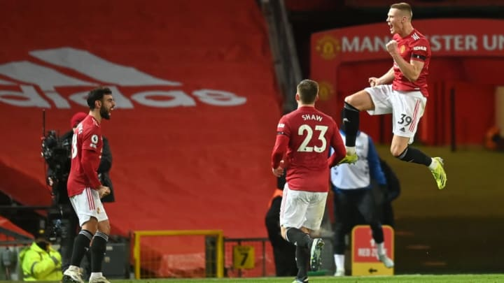 Scott McTominay scored in extra-time to put the Reds into the quarter-finals