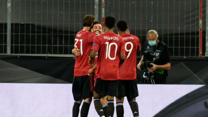 Bruno Fernandes, Nemanja Matic, Marcus Rashford, Anthony Martial