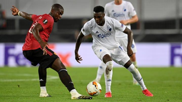 Mohamed Daramy face à Paul Pogba en Europa League.