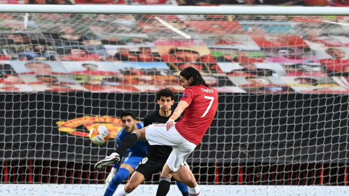 Edison Cavani, delantero del Manchester United