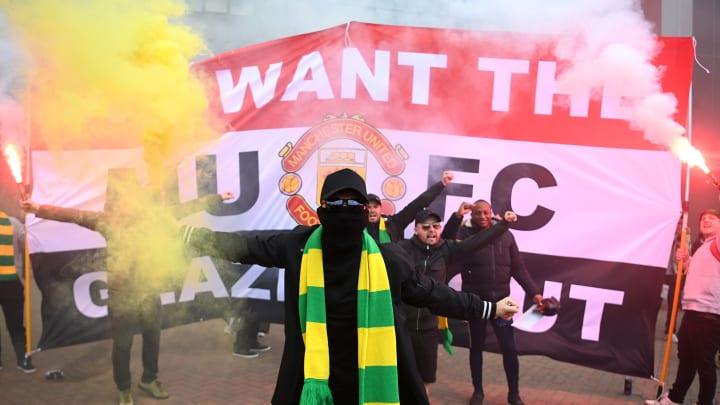 La protesta dei fan dello United