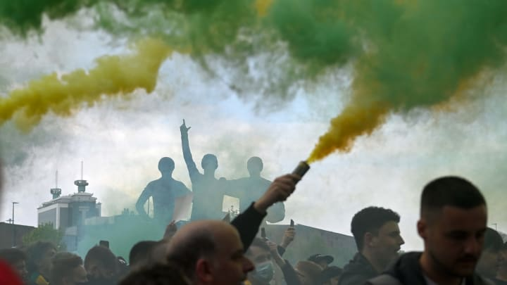 Man Utd fans stormed the stadium