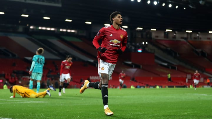 Marcus Rashford bagged one and assisted another against Liverpool in the FA Cup