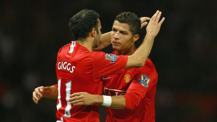 Ryan Giggs y Cristiano Ronaldo