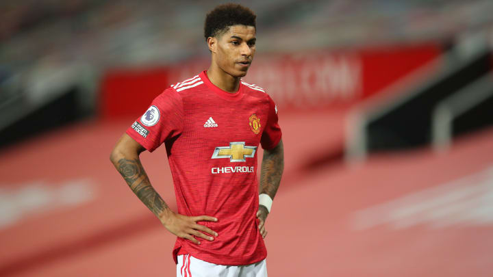 Marcus Rashford is dealing with a shoulder injury