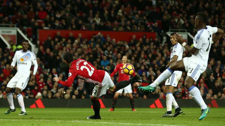 Mkhitaryan 's acrobatic effort against Sunderland