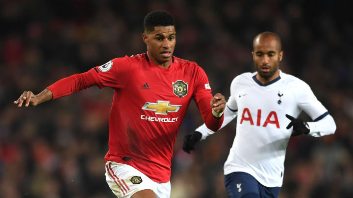 Marcus Rashford and Manchester United will look to take down Tottenham on Friday night.