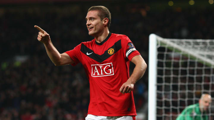Vidic was a January signing for Manchester United