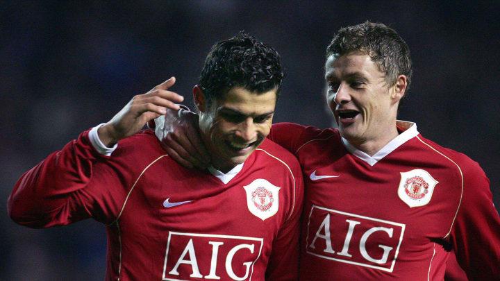 Ronaldo and Solskjaer were teammates at Man Utd