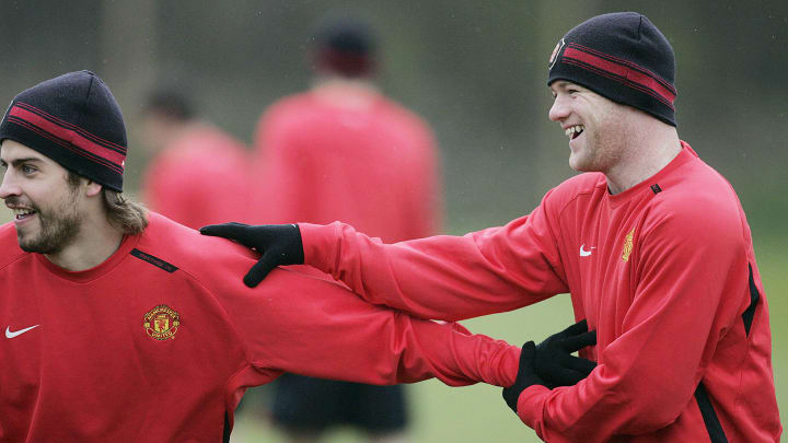 Gerrard Pique and Wayne Rooney briefly played together at Manchester United