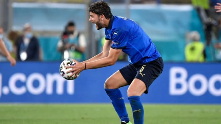 Manuel Locatelli of Italy reacts during the Uefa Euro 2020...