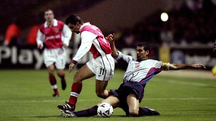 Marc Overmars and Pep Guardiola