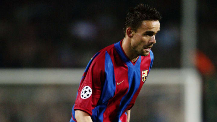 Marc Overmars of Barcelona