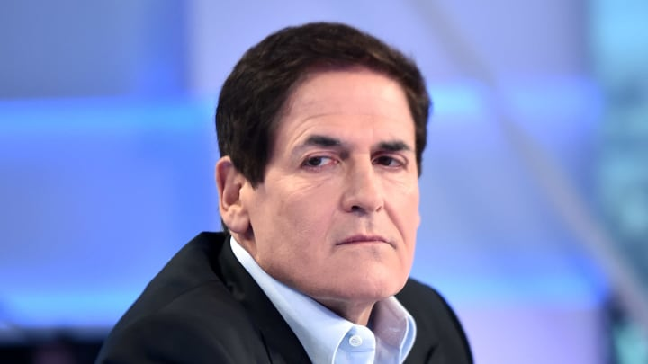 "NEW YORK, NEW YORK - SEPTEMBER 30: (EXCLUSIVE COVERAGE) Mark Cuban visits ""Cavuto: Coast To Coast"" hosted by Neil Cavuto at Fox Business Network Studios on September 30, 2019 in New York City. (Photo by Steven Ferdman/Getty Images)"