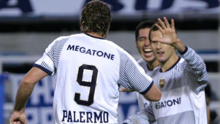 El Titán Palermo se cansó de hacer goles junto a Palacio y a Juan Román
