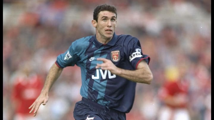 Matin Keown of Arsenal in full flight