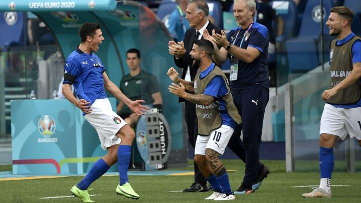 Matteo Pessina bejubelt seinen Treffer gegen Wales.