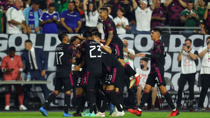 Mexico during the game vs Honduras in the Quarterfinals - 2021 CONCACAF Gold Cup