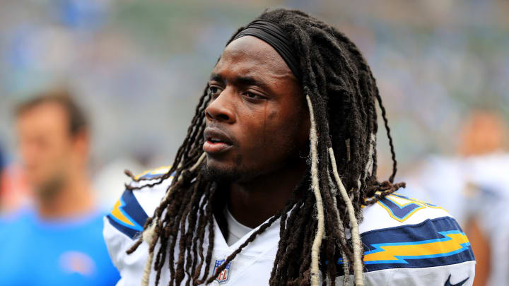 CARSON, CA - SEPTEMBER 17:  Melvin Gordon #28 of the Los Angeles Chargers looks on during the first half of a game against the Miami Dolphins  at StubHub Center on September 17, 2017 in Carson, California.  (Photo by Sean M. Haffey/Getty Images)