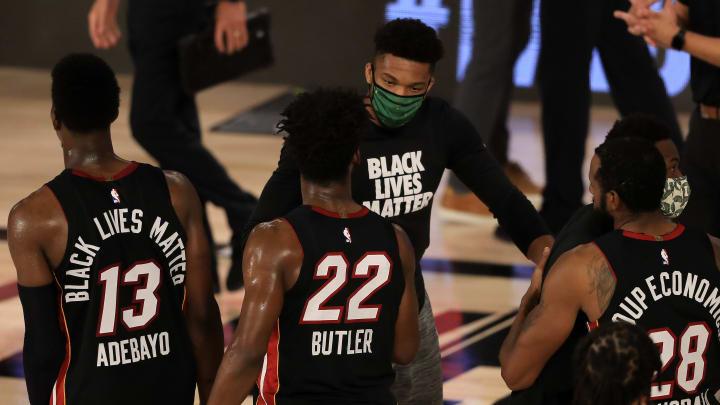 Giannis Antetokounmpo and the Miami Heat.