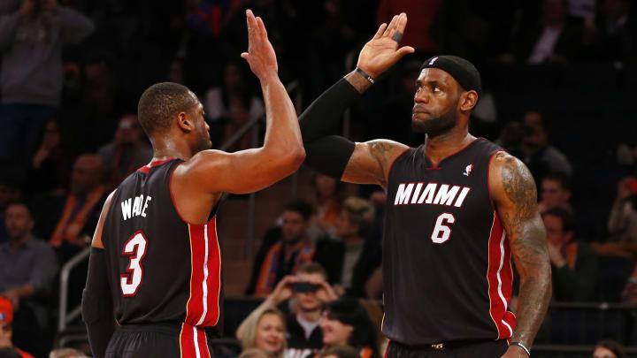 Wade y James lideraron al Heat a dos campeonatos de la NBA
