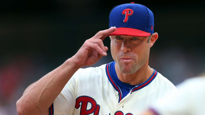 PHILADELPHIA, PA - SEPTEMBER 29: Manager Gabe Kapler #19 of the Philadelphia Phillies in action during a game against the Miami Marlins at Citizens Bank Park on September 29, 2019 in Philadelphia, Pennsylvania. The Marlins defeated the Phillies 4-3. (Photo by Rich Schultz/Getty Images)