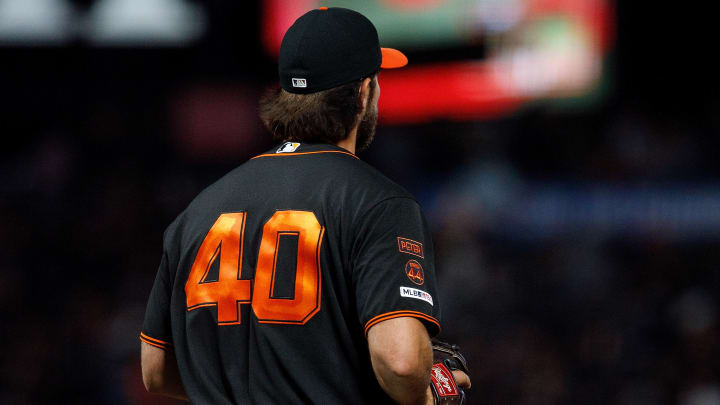SAN FRANCISCO, CA - SEPTEMBER 14: Jorge Alfaro #38 of the Miami Marlins rounds the bases after hitting a two run home run off of Madison Bumgarner #40 of the San Francisco Giants during the seventh inning at Oracle Park on September 14, 2019 in San Francisco, California.  The Miami Marlins defeated the San Francisco Giants 4-2.(Photo by Jason O. Watson/Getty Images)