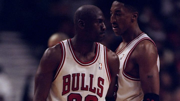 Scottie Pippen, possibly complaining about money.