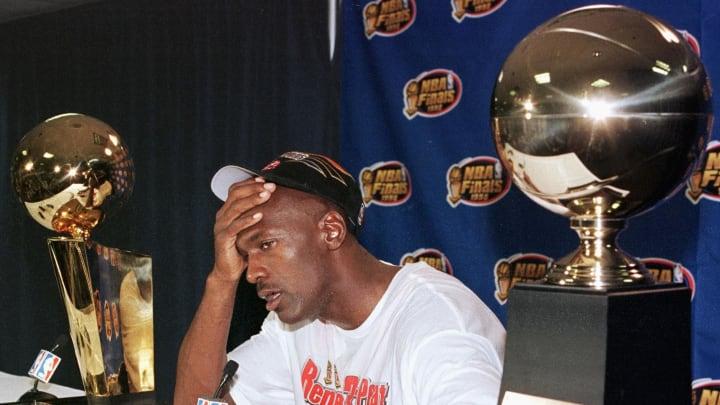 Michael Jordan after the 1998 NBA Finals